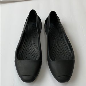 Crocs black flats Sz. 8